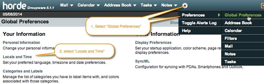 select-global-preferences-horde-webmail